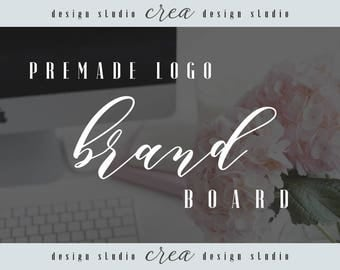 Brand design, brand board, premade logo brand board, brand styling, Fonts, Color codes, Brand identity
