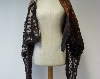 Sale. Artsy delicate boho shawl. Perfect for gift, only one sample.
