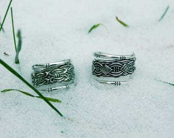 Viking style ring / silver ring / borre ring / adjustable ring