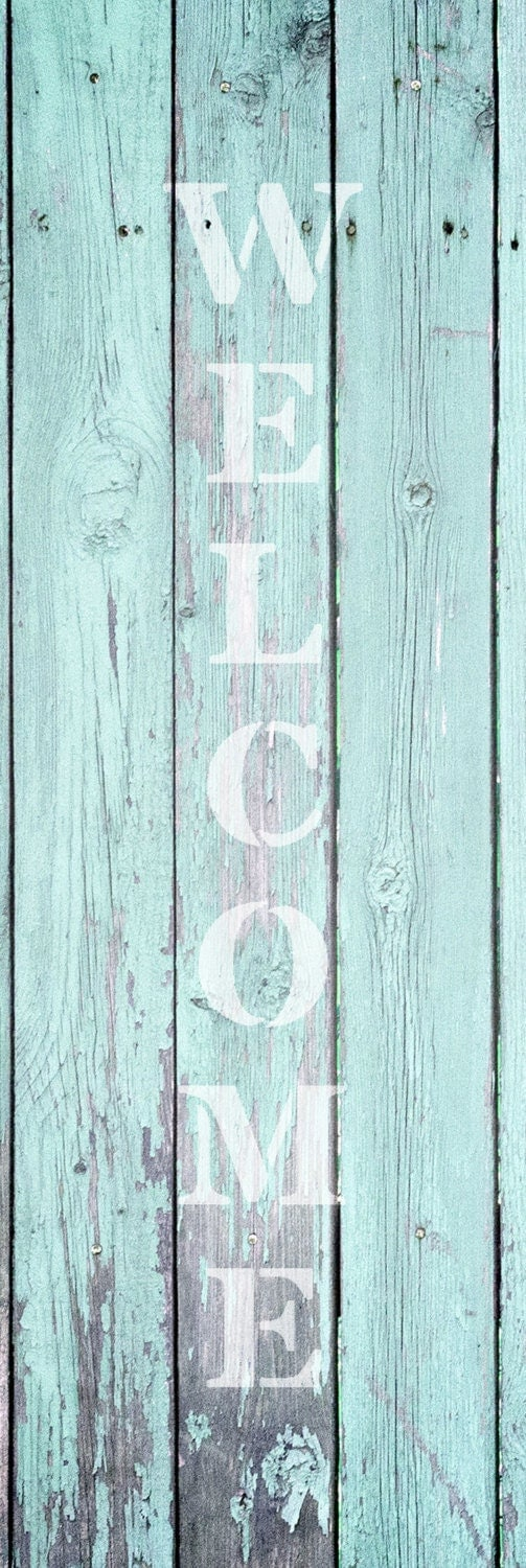 Welcome - Vertical - Word Art Stencil - Select Size - STCL1488 - by StudioR12
