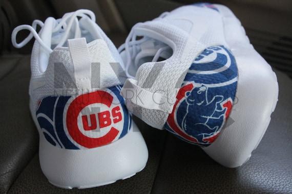 delicate Chicago Cubs 16 Nike Roshe One Run White V5 Edition