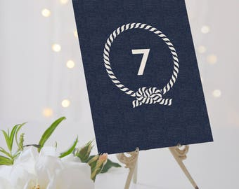 Nautical Wedding Table Numbers // Naval Wedding Table Numbers // Nautical Table Numbers // Canary Wharf Collection // Elle Bee Design