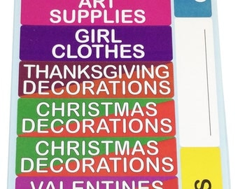 Storage Labels for Home Organization