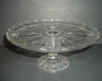 Vintage Pattern Glass Cakestand