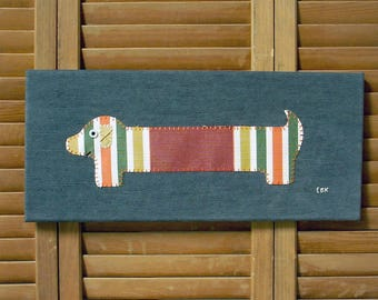 Dachshund #4 Fabric Wall Art
