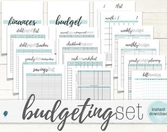 PRINTABLE BUDGET Planner (BIG-kit): Printable Budget & Planning Forms for your Budget Binder/Organizer, Instant Download!