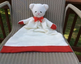 Plush Teddy Bear Lovey Blanket