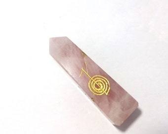 Wholesalegemshop Genious Gemstone Of Rose Quartz With Usui Reiki Crystal Healing Metaphysical Jewelry with Free Shipping