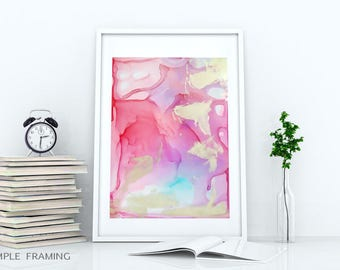 Smooth liquid #3 / painting mix media, fine art print / download file