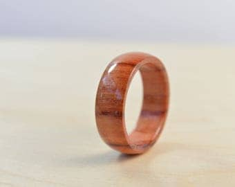 Handmade Wood Ring ~ Brazilian Rosewood Ring ~ Natural Wooden Jewelry ~ Size 9-1/2