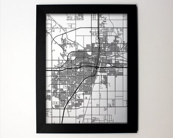 Amarillo Texas Laser Cut Map, Amarillo TX Street Map, Map of Amarillo, Amarillo map, Amarillo Gift, Amarillo Print, Amarillo Art