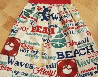 Beach Theme Hanging Kitchen Towel