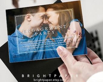 Photo Engagement Invitation, Modern Engagement Invite, She Said Yes Wedding Engagement Invitation Invite Card Digital Printable EN003