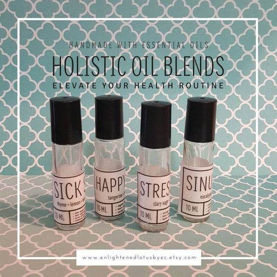 Holistic Essential Oil Blends set, Choose your own set of five