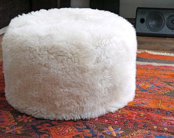 Extremely lovely and comfortable sheep fur pouf