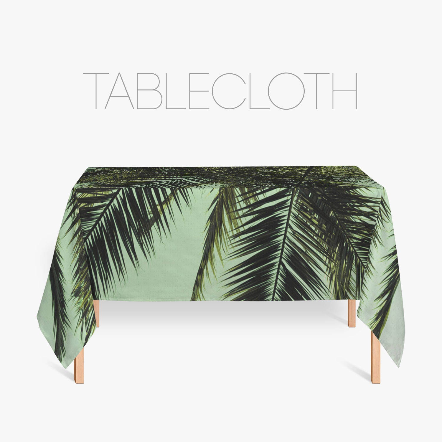 Palm Tree Tablecloth Tropical Decor Kitchen Decoration
