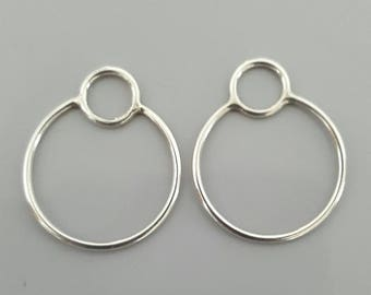 Handmade Sterling Silver Earring Connectors, Smaller Size - 1 Pair