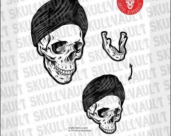 Turban Skull vector Illustration