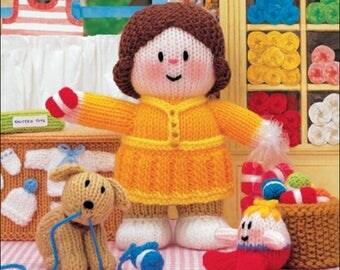 Jean Greenhowe Little Dumpling Dolls Village Ladies knitting pattern booklet, UK seller