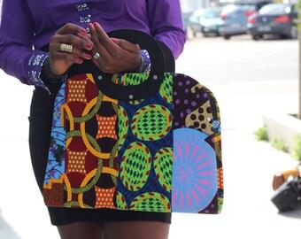 Sac à main en pagne africaine forme originale