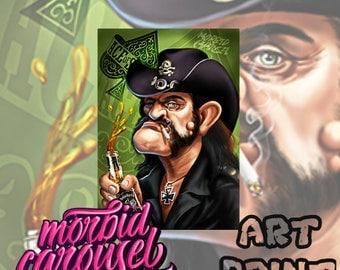 Motorhead Lemmy Kilmister Portrait A4 Giclee Art Print