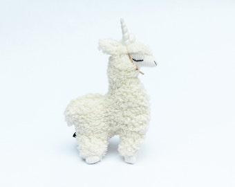 Llamacorn Plush, Llama Stuffed Animal, Stuffed Llama, Stuffed Unicorn, eco-friendly