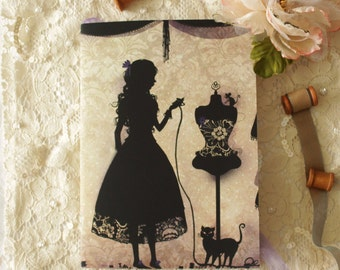 Notebook - Illustrated notebook - dressmaker - seamstress - Couturière
