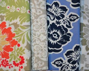 Secret Garden by Sandi Henderson for Michael Miller quilt cotton fabric  4 fat quarter Set  OOP VHTF