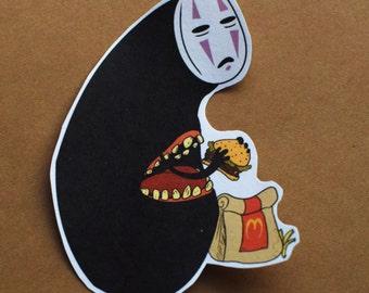 SALE***No Face Burger Sticker