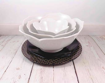 RESERVED for POETRYKIND Lotus Bowls