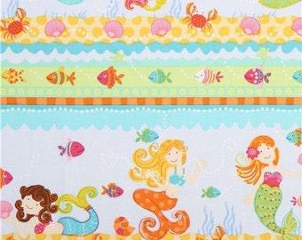 Mermaid Cotton Fabric Timeless Treasures Diving Diva