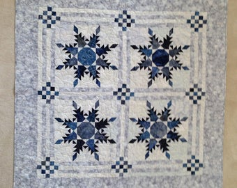 Snowflake Star Lap Quilt