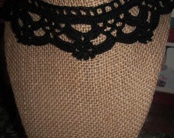 Crochet Choker / black