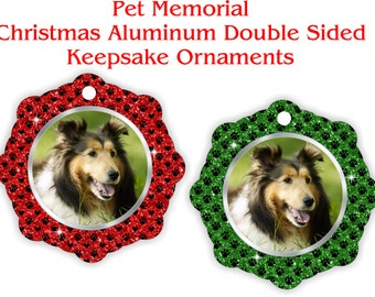 Pet Memorial, Keepsake Ornament, Photo Ornament, Christmas Ornament, Photo Gift Idea, Personalized - PMO1-2
