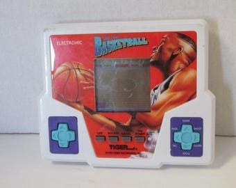 Vintage Electronic Hand Held Basketball Video Game Tiger Electronics 1994