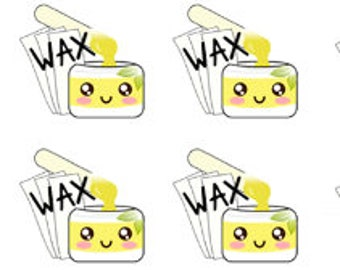 Time for a Wax Stickers , 88 piece set , Journals , Calendar , reminder , Labels , appointments , dates