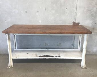 Industrial Butcher Block Work Bench (42AR14)