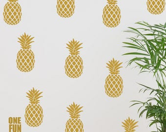 Pineapple Decor Wall Decals Stickers Fruit Boys Girls Kids Bedroom Playroom Nursery Vinyl Art Home Decor Removable Vinyl Stickers