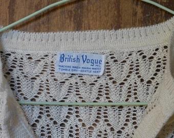 Cardigan / jacket wool crocheted size M/L