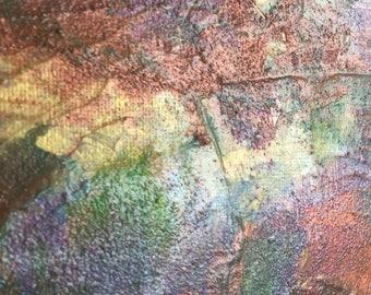 Iridescent Art Gold painting copper art Textured 8x10 art unique art Metal wall art original painting copper painting
