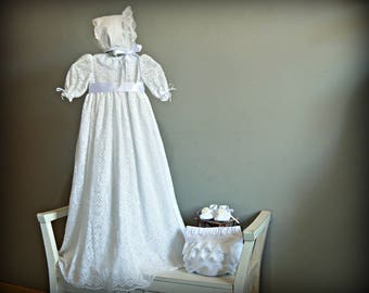 CARMEN Baby GIRL.Nb to 18M.White lace fabric.Custom your OWN outfit.Special celebration.Christening gown.Baptism.Naming.Blessing.Heirloom