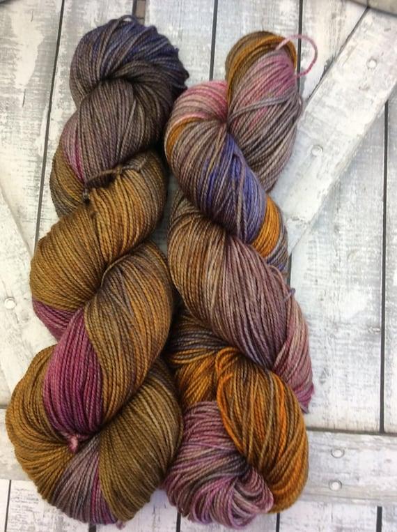 Sock Yarn - Warrior Princess,Hand Dyed Yarn,Indie Dyed Yarn,Fingering Weight,80/20 Superwash Merino Nylon,Bohemian Colors,Toad Hollow Yarn