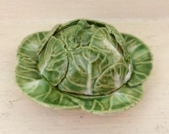 Cabbage Domed Covered Dish (Dollshouse)