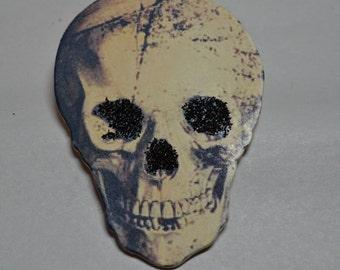 Skull Wooden Ornament