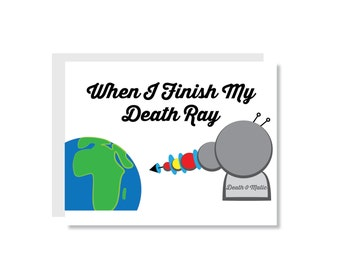 Death Ray Friendship Greeting Card - Just a Note, Friend, Marriage, Anniversary, Husband, Wife