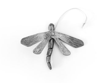 Ornament: Hand-forged Personalized Dragonfly
