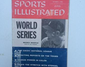 SPORTS ILLUSTRATED Magazine Vol. 5, #14 - 10/1/1956 BASEBALL World Series Mantle