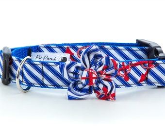 Anchors Dog Flower Dog Collar