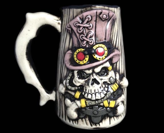 Steampunk Mug Gothic Mug Beer Mug Steampunk Beer Stein