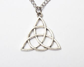 Antiqued silver Celtic Knot Jewelry, Silver Celtic Knot Necklace  Celtic Jewelry, Celtic Knotwork Pendant